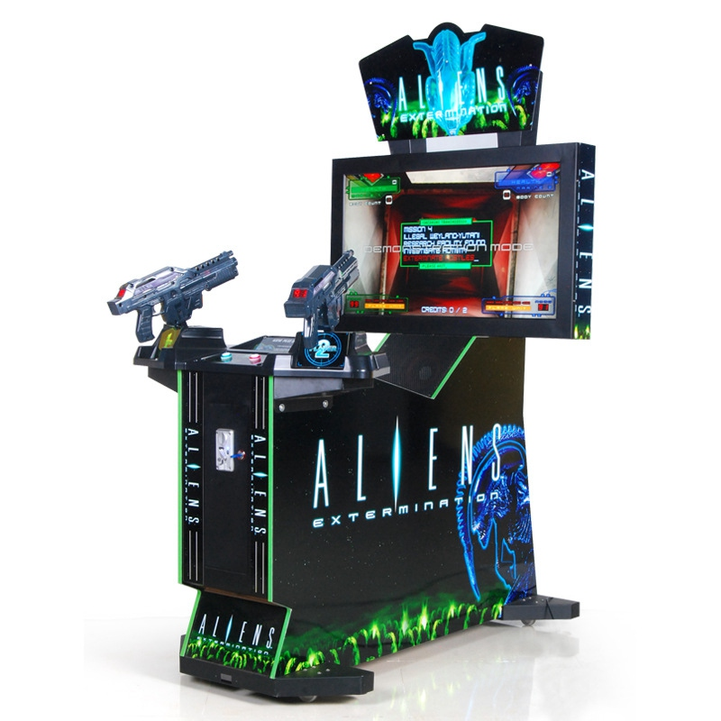New Arrival 42 inch Aliens Shooting Arcade Game Gun Shooting Coin Operated Simulator Game Machine