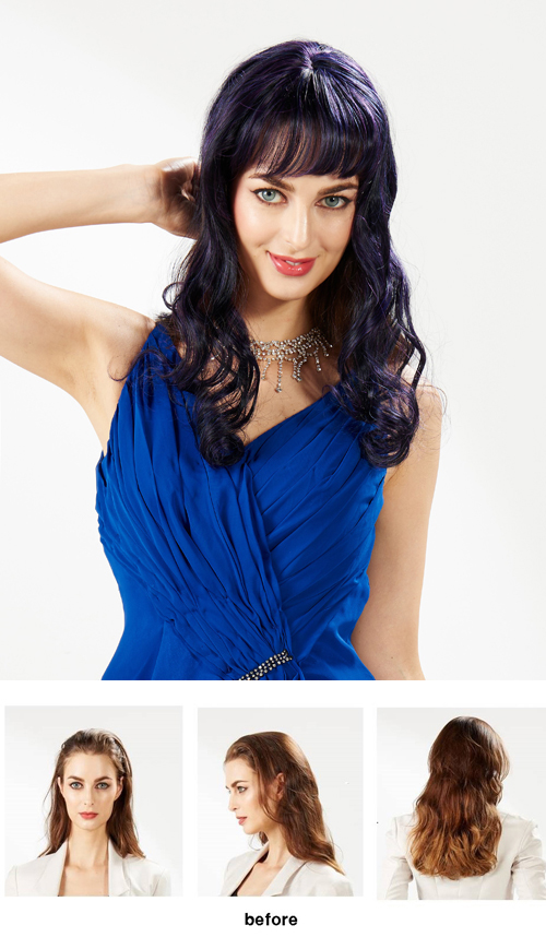 EYESHA fusion fashion wig 801 (Purple mix - natural wave style)
