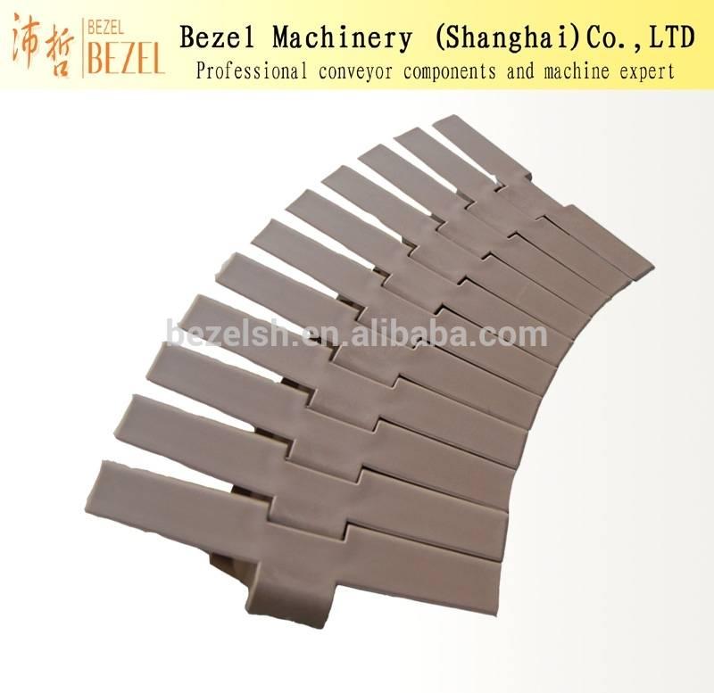 882 Plastic side flexing flat top slat conveyor chain