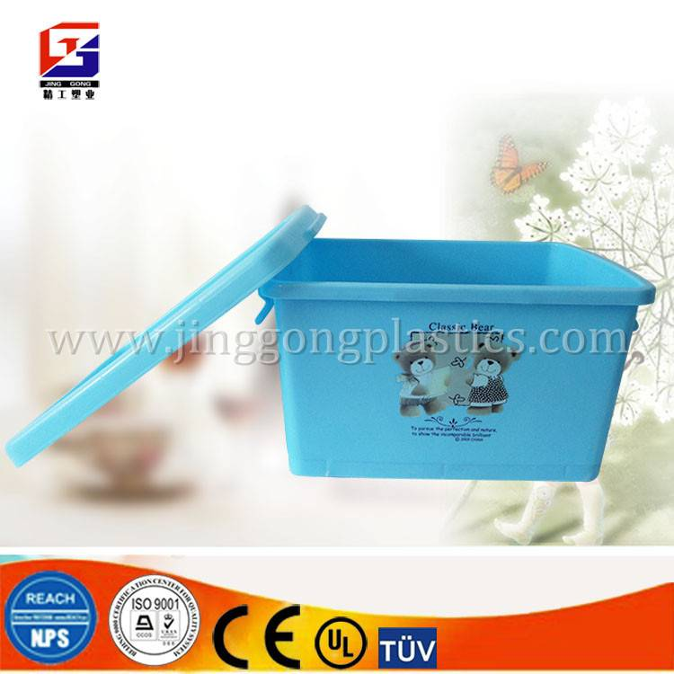 stackable storage plastic box with lid