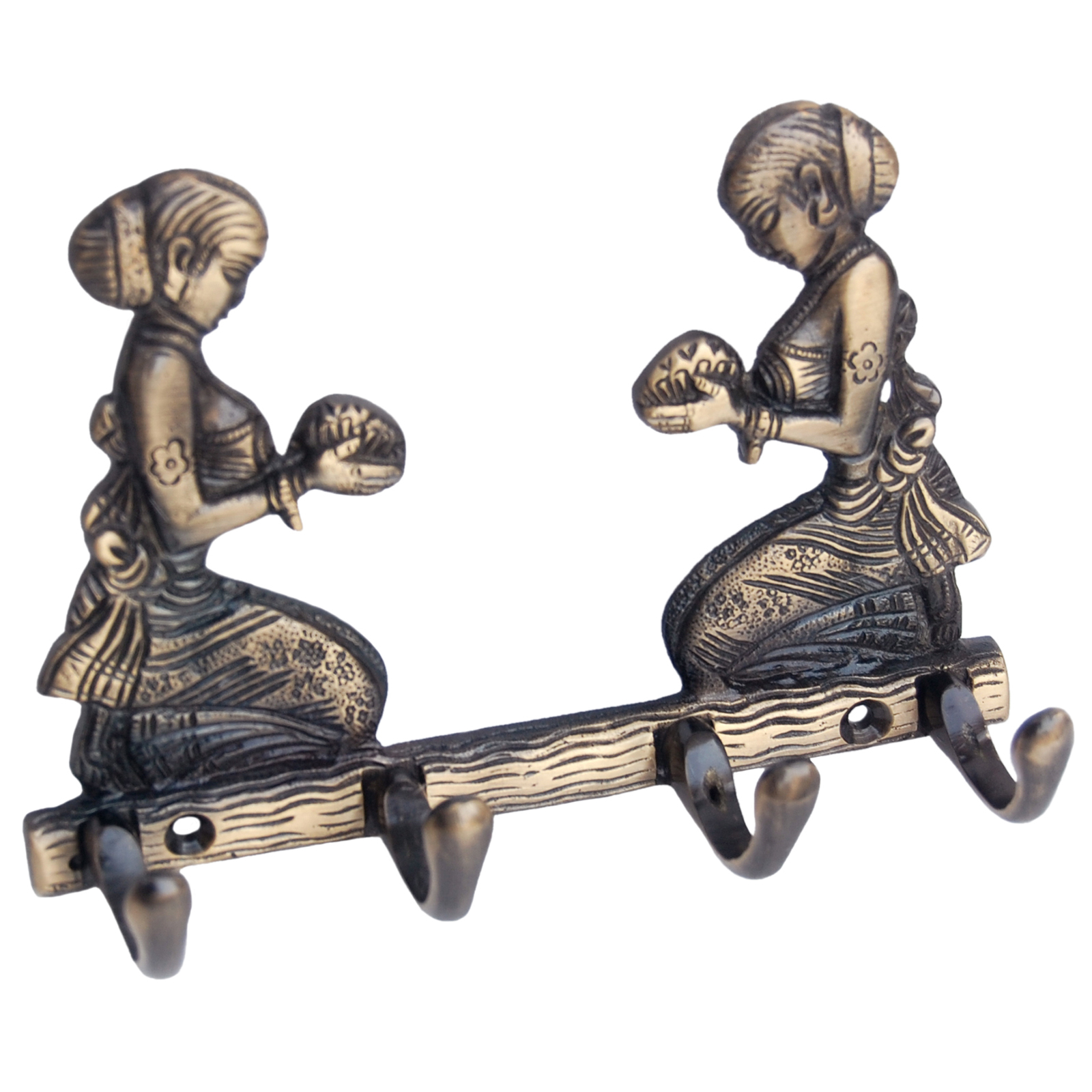 Key hook holder with two welcome Lady made by Brass