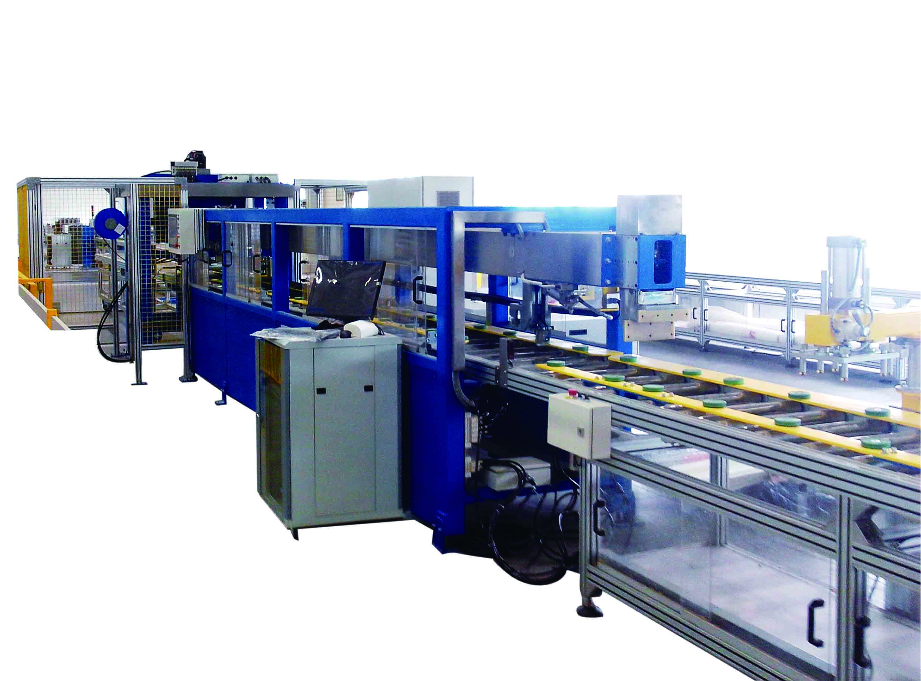 Automatic busbar assembly line, busbar trunking system production machine