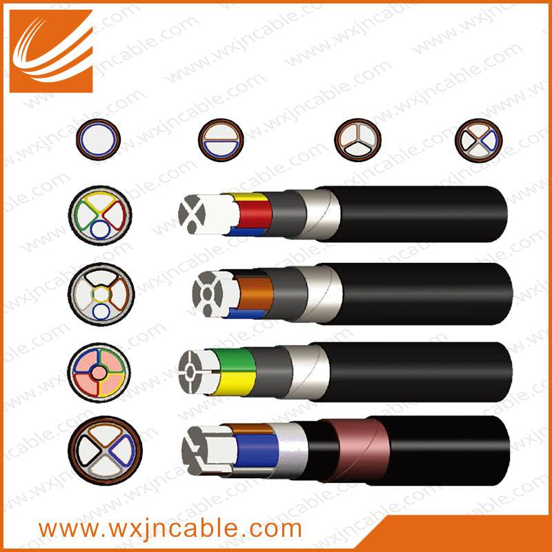 0.6/1KV VLV23-Aluminium Conductor PVC Insulated Steel Tape Armoured PE Sheathed Power Cable