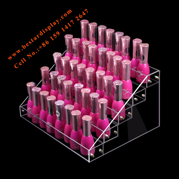 Reliable supplier Plexiglass PMMA acrylic nail polish display