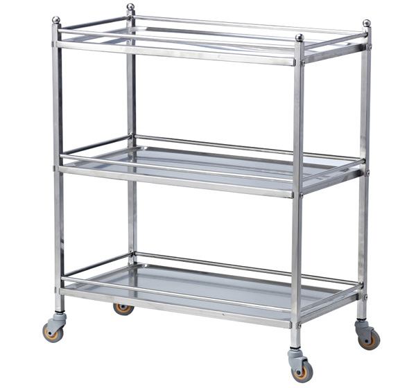 stainless dining cart