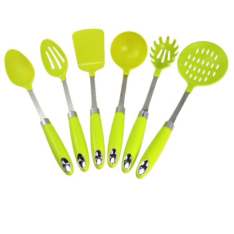 wholesale high quality 6pcs nylon cooking tools set with PP handle