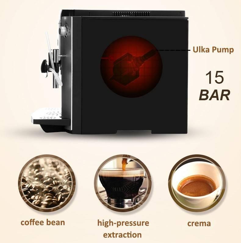 Kitchen appliance 4 color espresso fully automatic coffee machine 010A