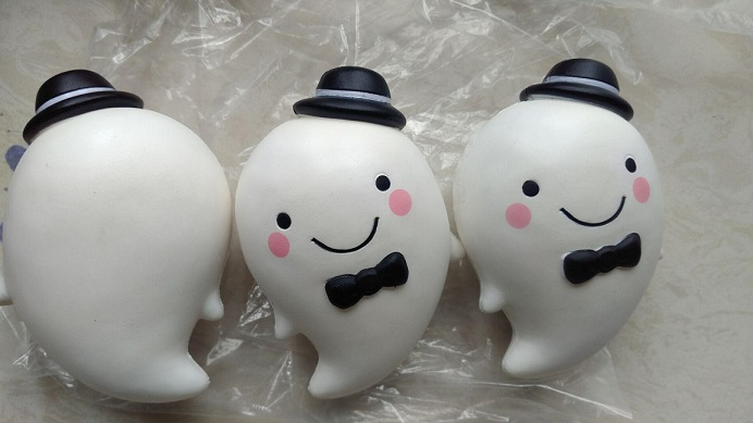 cute and slow rising ghost squishy for cell phone