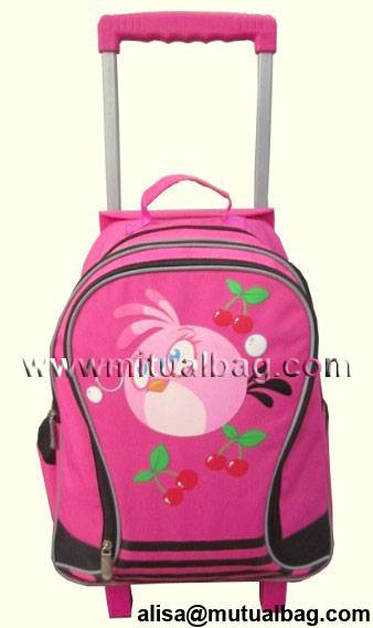 CH-T41026 fashion trolley bag trolley backpacks school bag with trolley backpack with wheels