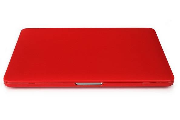 PU leather wrapped PC cover for Macbook laptop-Red color