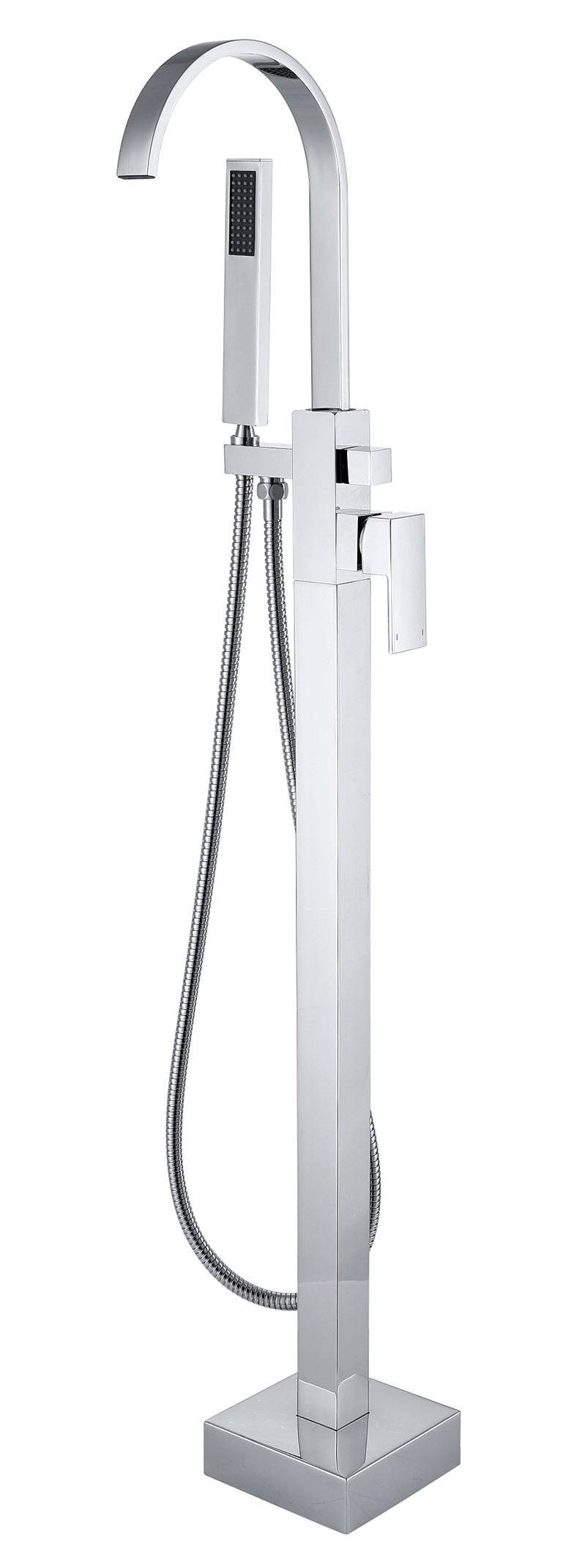 Floor standing Bathtub Faucet - Chrome Finished