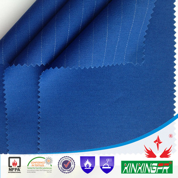 99%cotton1%antistatic flame retardant twill fabric for safety garments