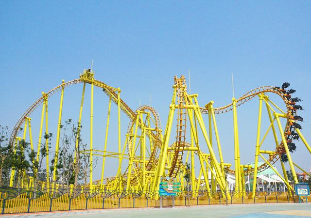 china roller coaster manufacturer large and thrilling suspended roller coaster for