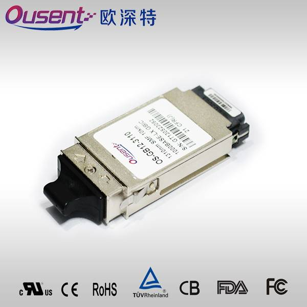 SMF 1.25Gbps FC /GBE Simplex SC GBIC Transceiver RoHS6 Compliant