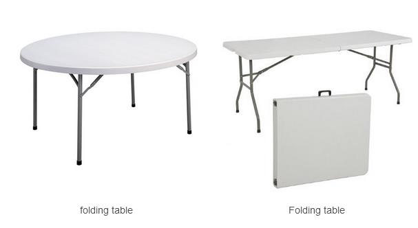 Plastic folding chair/table