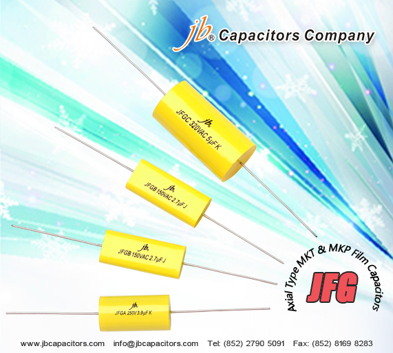 JFGC--Axial Metallized Polypropylene Film Capacitor (CYCLOIDAL)