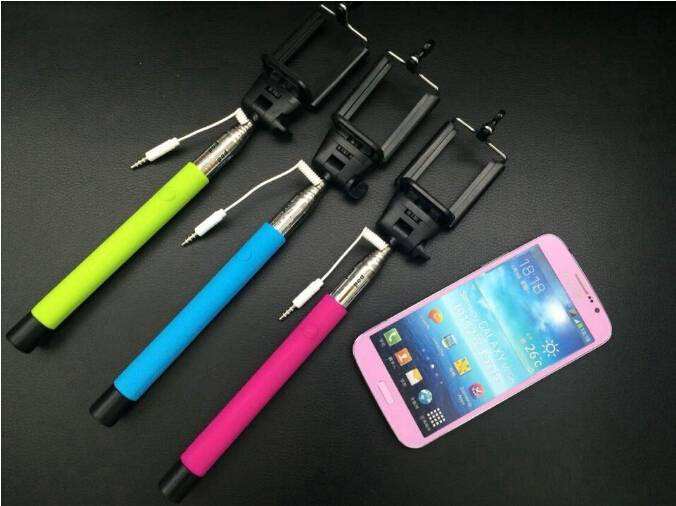 Smartphone Wired Monopod Selfie Stick Headphone Cable selfie stick