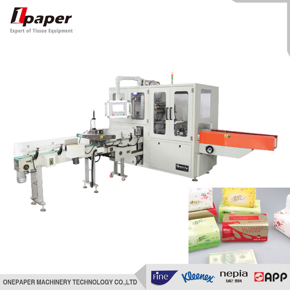 China equipment automatic soft drawn facial tissue paper wrapping packaging machine facial tissue pa