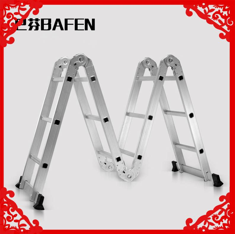 Multi Purpose Aluminum Folding Ladder made in china climbing rope ladder