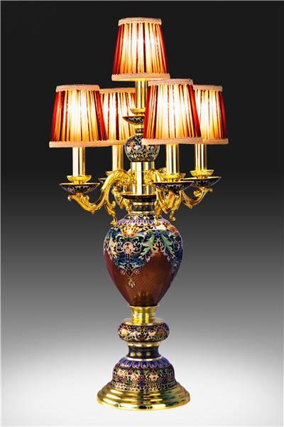 """""""Auspicious"""" Cloisonne Lamp"""
