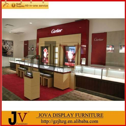 High quality jewelry shopping mall showcase kiosk