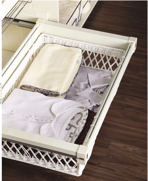 Pull Out Wardrobe Storage Basket