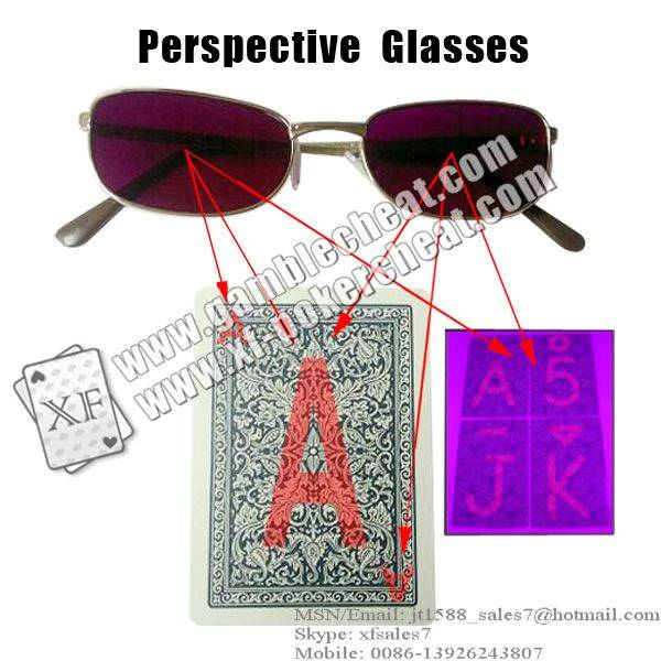 XF Perspective Glasses/poker analyzer/poker cheat/contact lens/infrared lens/poker scanner/marked ca