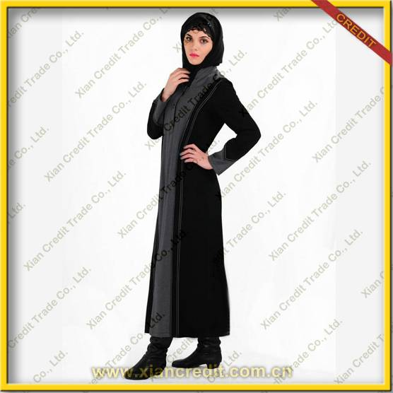 2014 Newest muslim women abaya made100% polyester KDT - 1006