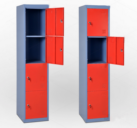 Xingyuan Practical Lockable 4 Door Closet Cabinet Steel Locker