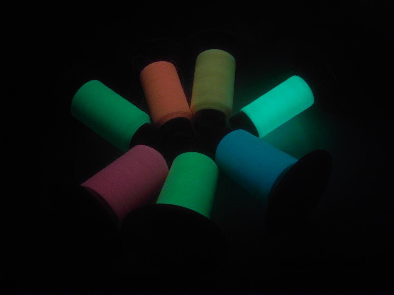 Glow-in-Dark Embroidery Thread