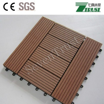 Waterproof non slip co-extruted DIY decking for balcony and patio terrace