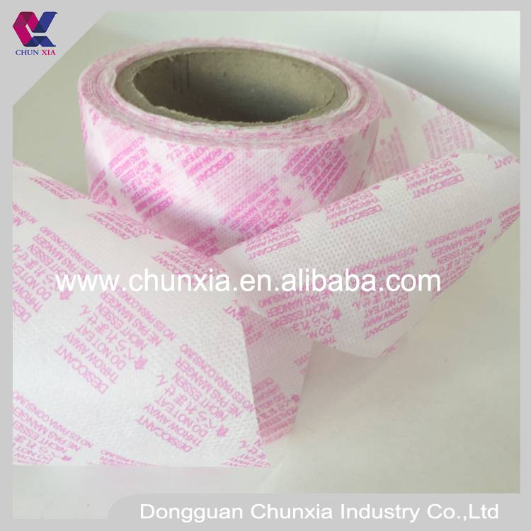 Printed desiccant wrapping non woven fabric
