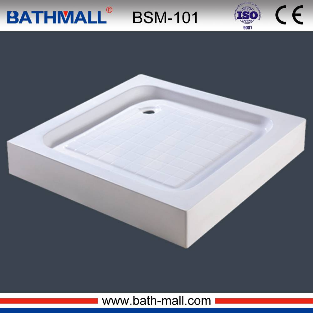 Top quality pure acrylic cheap shower tray with frame