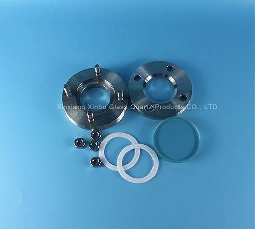 stainless steel circular crystal glass lenses