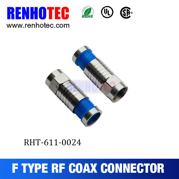compression type F male connector