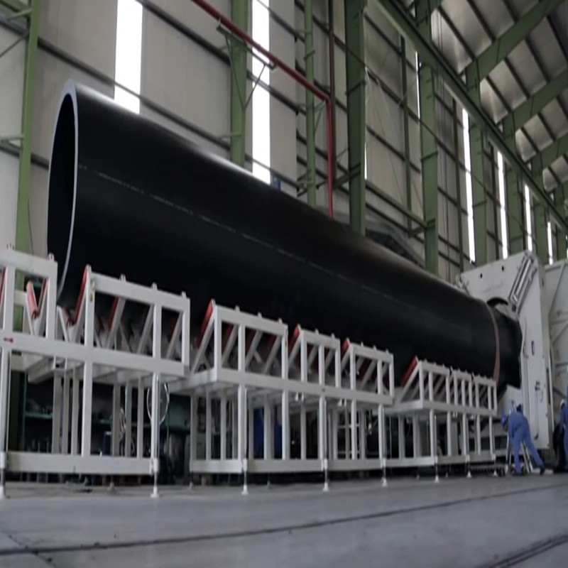 HDPE Huge Diameter Hollowness Wall Spiral Pipe Production Line