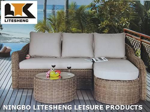 PE Rattan Small Outdoor / Garden Furniture / Lounge/ tea table/ Sofa Set