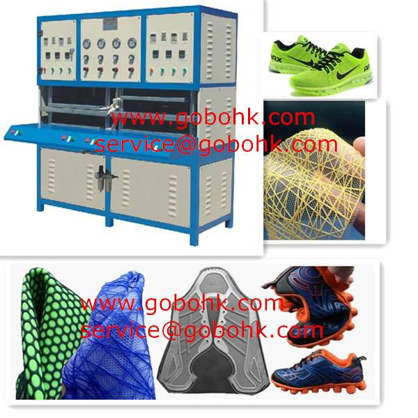 Hot selling Environment protective KPU/PU/TPU shoes upper making Machine for factories