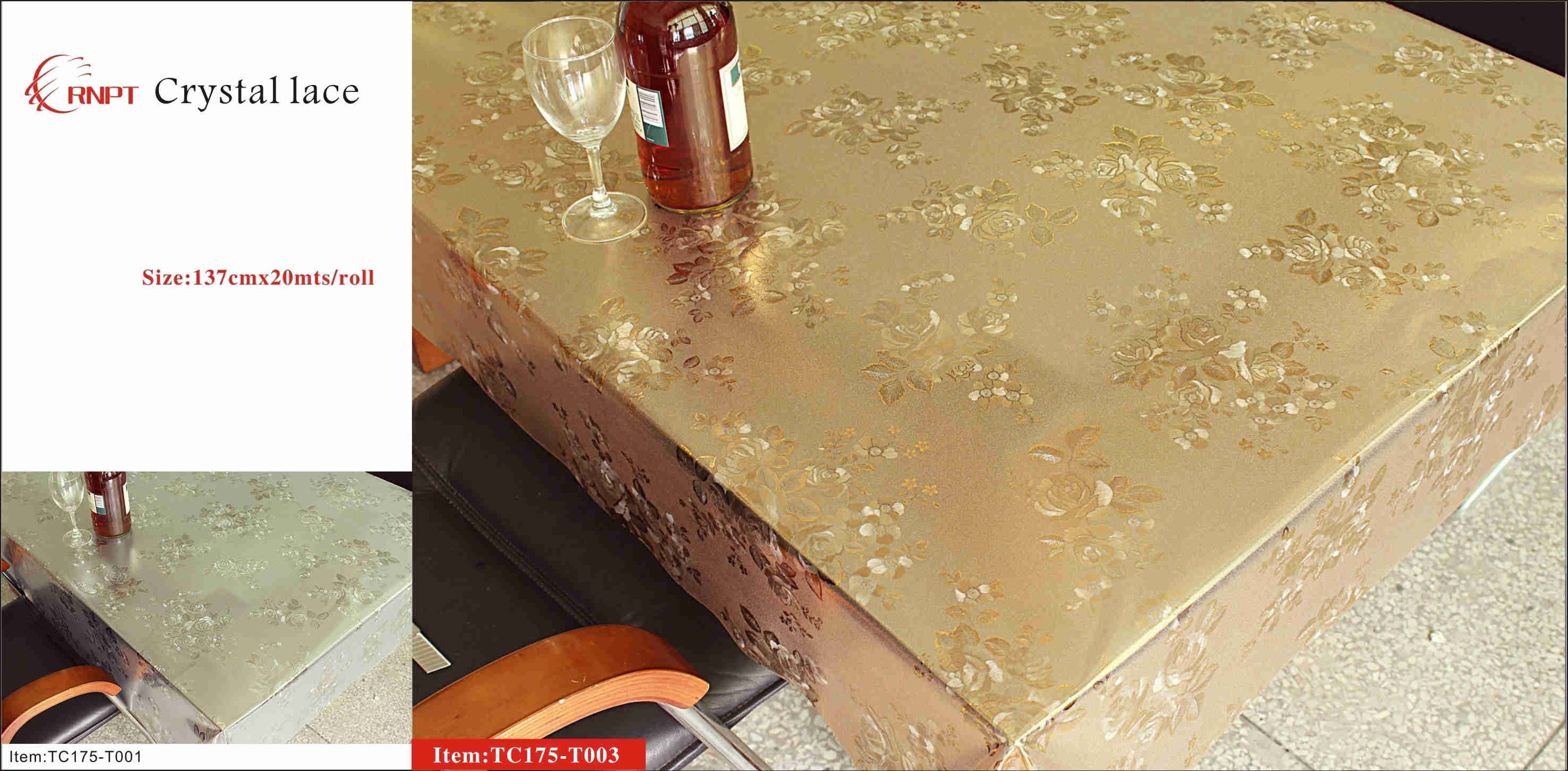 pvc table cover crystal