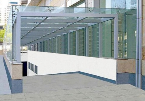 the CE certification of 6-12mm toughened glass canopy,glass railing,glass skylight