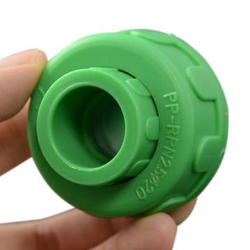 DIN Standard green plastic ppr pipe and fitting PP-R Union