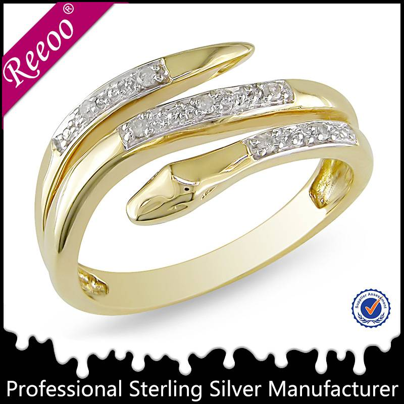 18k gold plated ring fashion wholesale silver jewelry