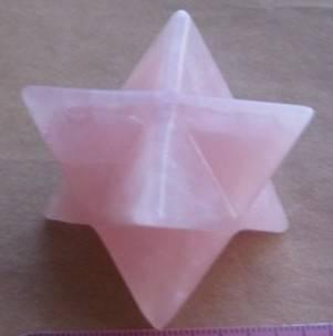gemstone rose quartz merkabahs