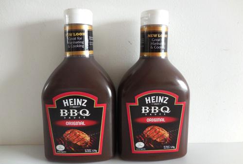 Heinz Brand BBQ Sauce Original/Honey&Galic Flavor 570g in Squeeze Bottle
