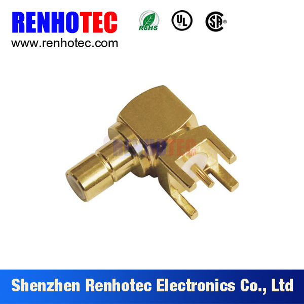 right angle SMB connector for PCB board