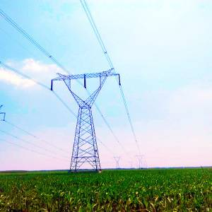 500 Kv Linear Power Transmission Angle Steel Tower with Single Circuit