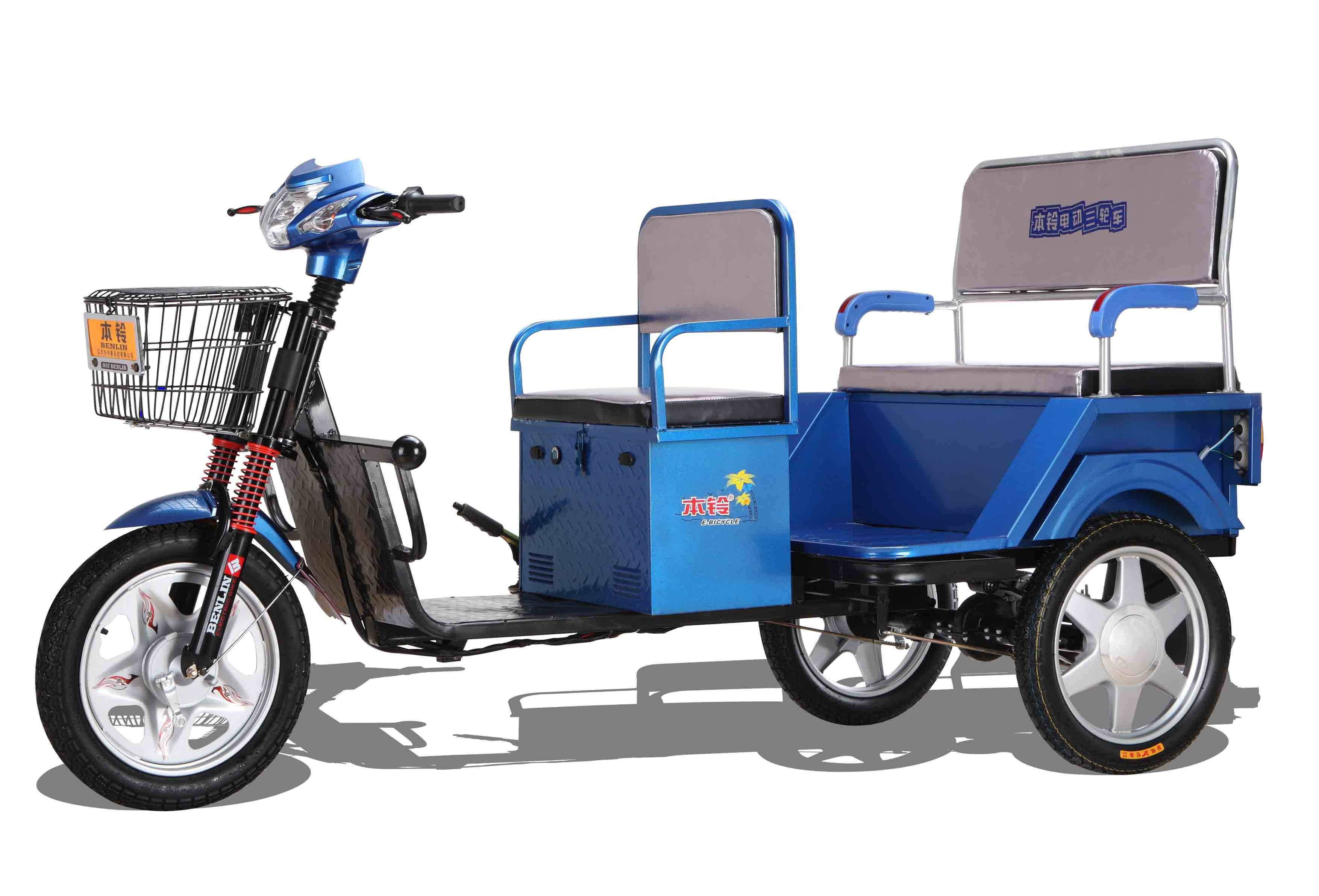 48V500W 18' inches factory electric tricycle three-wheeler bike 3wheel
