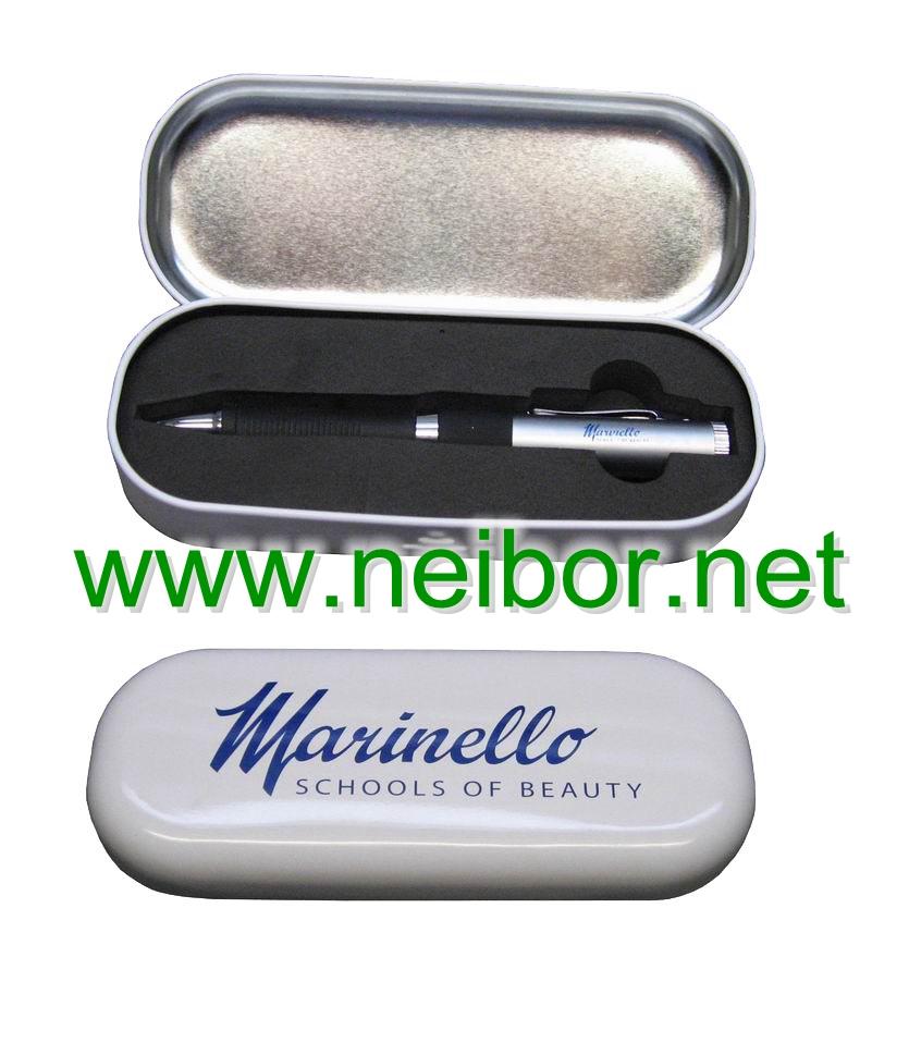 pen box, gift pen box set, mark pen box, pen case,oval tin box