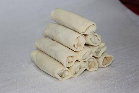 Frozen spring rolls