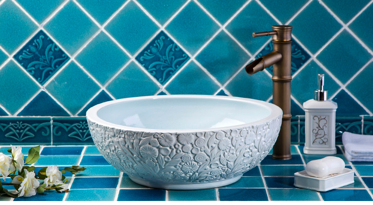 Luxury Modern Artistic Ceramic Wash Bowl Bathroom Round Lavabo Kitchen Ceramic Wash Basin Sinks